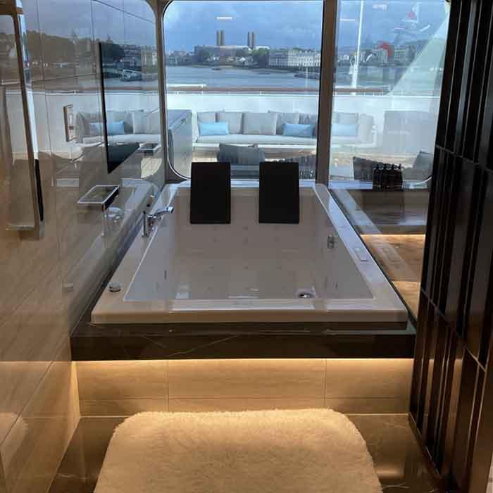 Crystal Endeavor Owner's Suite Bathroom.